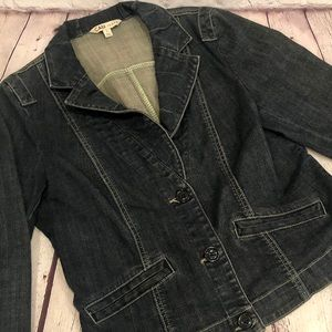 CAbi Lucy Denim Blazer Jacket - Style 860